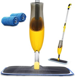 Yocada Microfiber Spray Mop with Total 2 Washable Mop Pad
