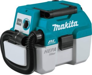 Makita XCV11Z 18V LXT Lithium-Ion Brushless Cordless 2 Gallon HEPA Filter Portable Wet Dry Dust Extractor Vacuum