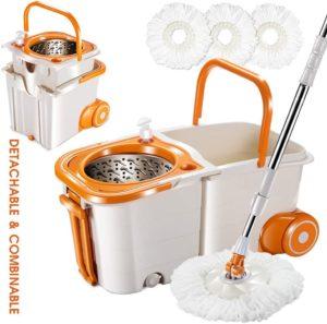 wringer mop bucket on wheels