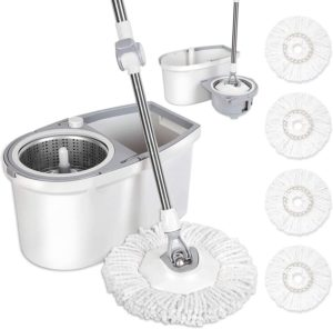 spin mop with bucket