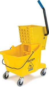 bucket and mop wringer on wheels