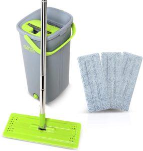 yellow bucket mop