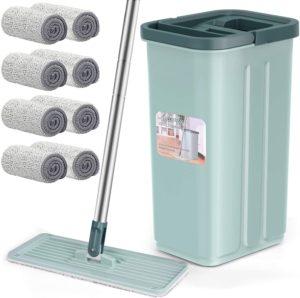 bucket with mop squeezer