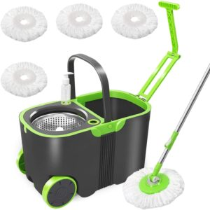 cleaning mops and buckets