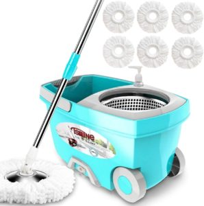 spin mop bucket on wheels